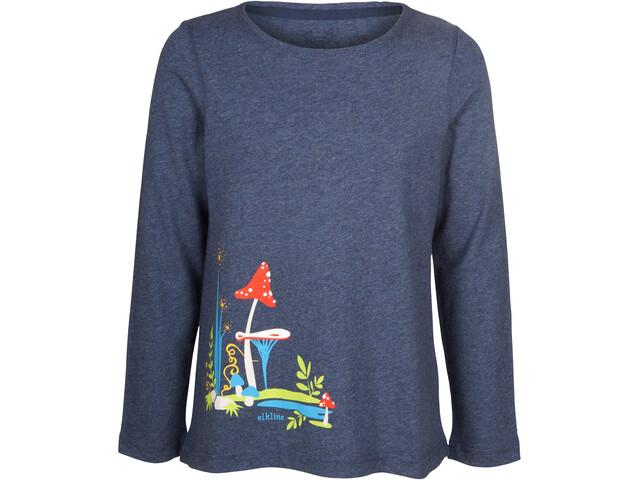Elkline Fliegenpilz Longsleeve Shirt Mädchen bluemelange